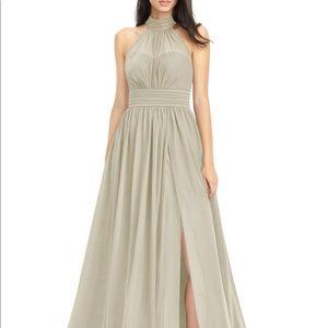 AZAZIE IMAN Taupe Bridesmaid Dress size A6
